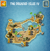 THE DREADED ISLES IV map