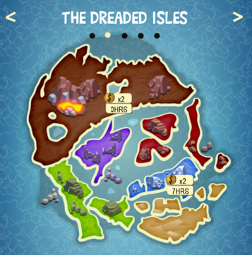 THE DREADED ISLES map