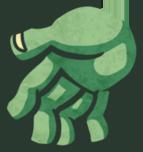 Octozombie zombie hand left