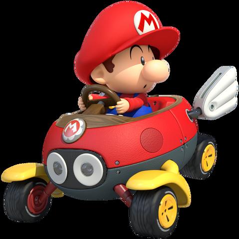 File:Baby Mario Mario Kart 8.png