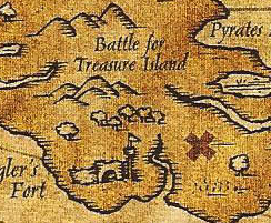 Battle for Treasure Island map