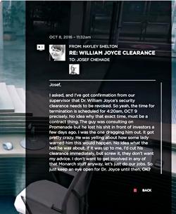 RE WILLIAM JOYCE CLEARANCE