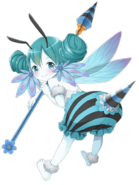 Water Bee-girl transparent