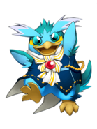 Jump Penguin (Sky Blue) transparent