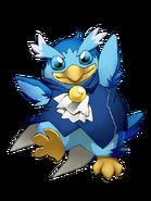 Hope Penguin (Blue) transparent