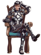 Rufus the Iron Knight transparent