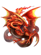 Suzaku (Dragon of Flames) transparent