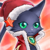 Wiz (Fire Christmas Cat) Icon