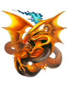 Fiery Dragon transparent