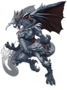Metal Dragon (Silver Flame Dragon) transparent