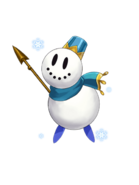 Snowman (Blue) transparent