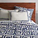 Blue & white bed