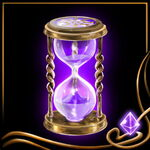 Purple Hourglass