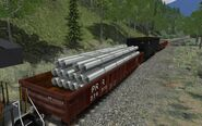 PRR Gondola Steel Pipes