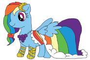 Rainbow dash in her gala dress by rigbyandmordecai1510-d58ziju