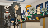 Debbie, Flute Girl, Bucky, Bash, Marlene, and Jerry in Dawn of the Driscoll