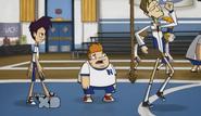 Randy, Howard, Coach Green, and Bucky