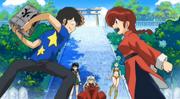 Ranma shouts at Ataru