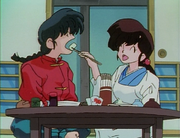 Ukyo feeds Ranma - Secret Sauce
