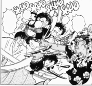 Ranma stuck in middle