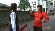Akane talks on way to school - live-action
