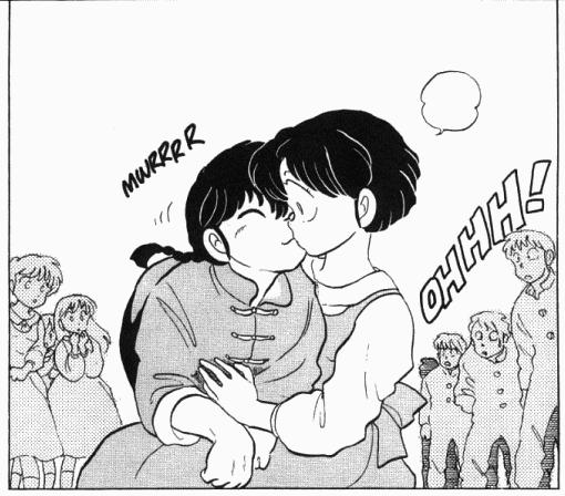 Archivo:Ranma-nyah kisses Akane.png