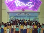 Students line up outside rival Dojo
