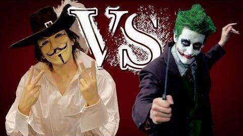 Guy Fawkes vs The Joker. ERB FanMade