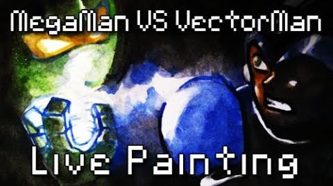 8Bit Drawing - Megaman VS Vectorman - CC News & Teaser Battle 10-0