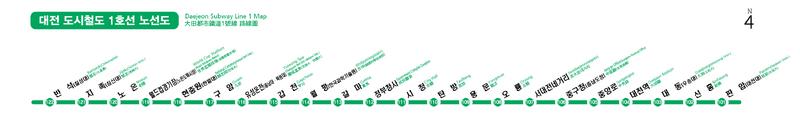 Daejeon Metropolitan Transit Map