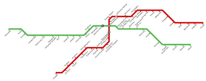 Daegu Metropolitan Transit Map