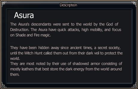 Race Info - Asura