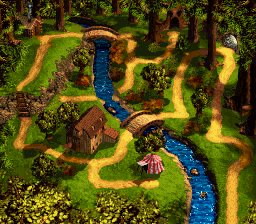 Kremwood Forest - World Map - Donkey Kong Country 3