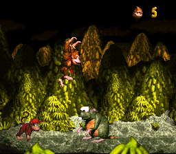 File:Very Gnawty - Preparing for Battle - Donkey Kong Country (SNES).png