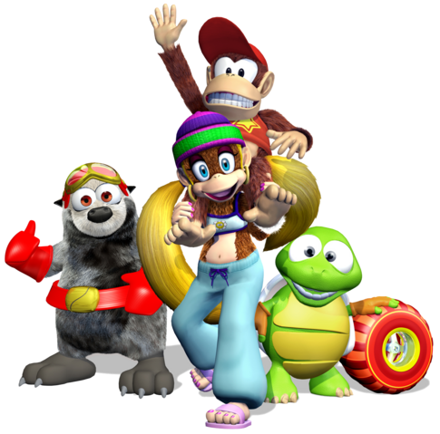 File:Diddy Kong Racing DS - Group Artwork.png