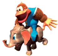 Kiddy and Ellie (Donkey Kong Country 3)