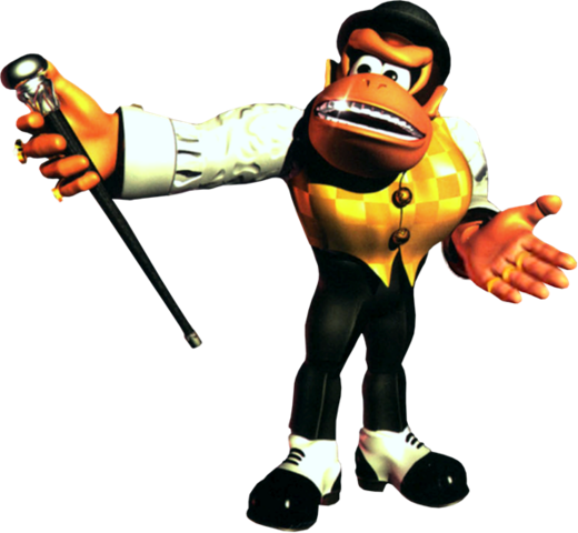 File:Swanky Kong Artwork - Donkey Kong Country 3.png