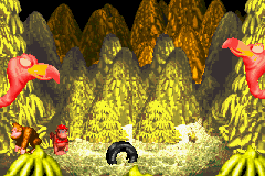 File:Master Necky Snr. - About to Spew Nuts - Donkey Kong Country (Game Boy Advance).png