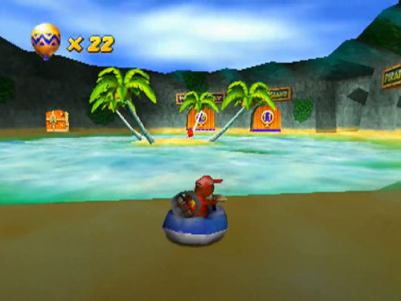 File:Diddy Kong in the Sherbet Island lobby with T.T. in the background.png
