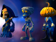 Monsters Pack blue team skins