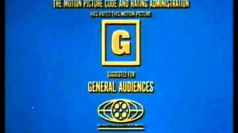 """G-rated """"Suggested for General Audiences"""" MPAA Graphic 1969"""