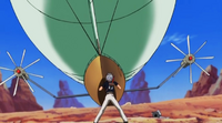Haru stands in front of an air balloon