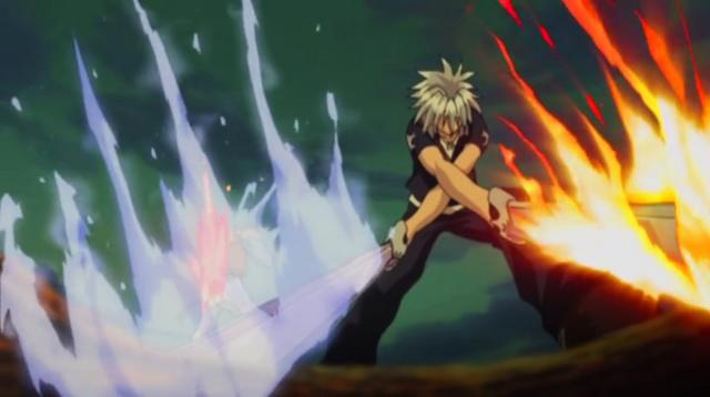 File:Haru attacks Berial with Blue Crimson.png
