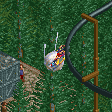 Sputnik Suspended Flying Coaster RCT2 Icon