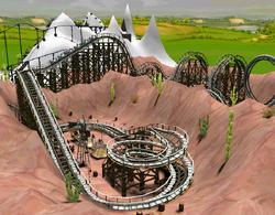 Wooden Coaster RCT3 Terraformed