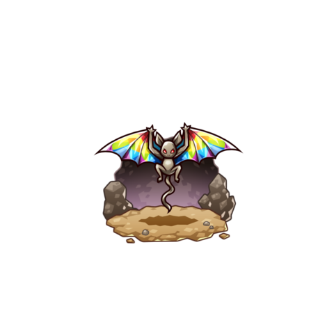A Seven Colored Bat in the mobile game