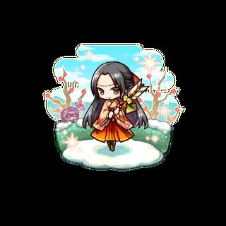Sumeragi Kaede (Prosperous Request) in the mobile game