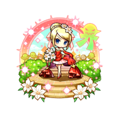 Therese (Crimson Dress Bride) in the mobile game