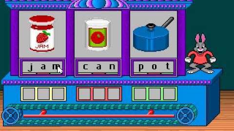 Reader Rabbit 1 Gameplay (1991 DOS Version)