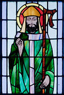 Kilbennan St. Benin's Church Window St. Patrick Detail 2010 09 16
